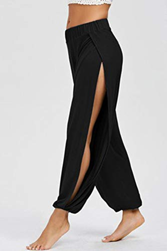 f31fa0380f Split Yoga Leggings Donna W47nnqh56 I Casual Sotto Black Pantaloni ...