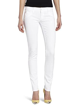 Hudson Jeans Women's Collin Skinny Jean in White at Amazon Women's ...