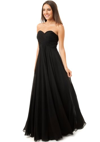 Fiesta Formals Women's Long Flowing Chiffon Gown Dress at Amazon ...