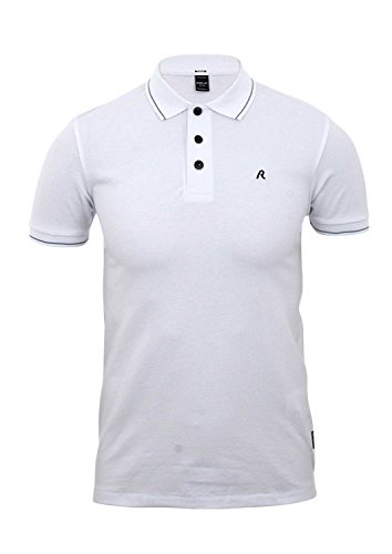 Replay Herren Poloshirt weiß optical white Medium