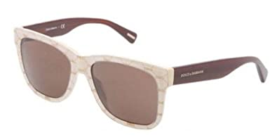 Dolce & Gabbana Women's 4158p All Over Gold On Beige Frame/Brown Lens Plastic Sunglasses vHZVOl