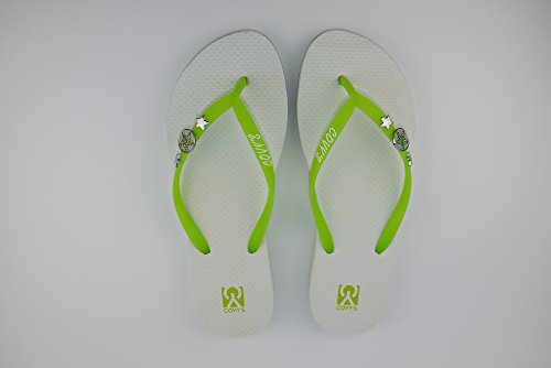 COVY'S jandals green tea/white #5117 women (Zehentrenner, Sandale, DIY, Pins)