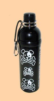 Good Life Gear Stainless Steel Pet Water Bottle, 24-Ounce, Black Puppy Pirate Design by Good Life Gear