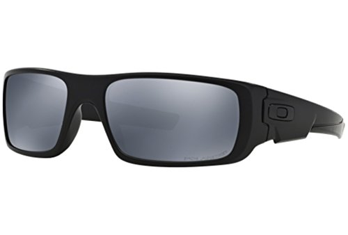 Oakley Crankshaft Polarized Sunglasses-Matte Black/Black Iridium (Oakley Wrap-around-gläser)
