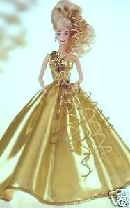 BARBIE GOLD SENSATION LIMITED EDITION FIRST IN A SET SERIAL # 00345 (1993 TIMELESS CREATIONS) by Mattel by Mattel