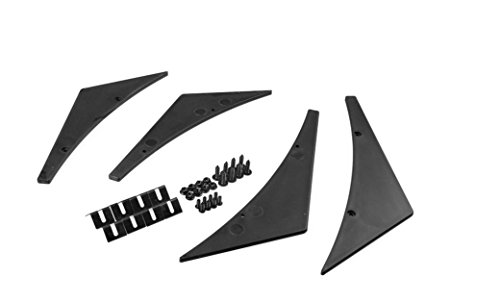 Price comparison product image LANYOS Fit Front Bumper Lip Splitter Fins Body Spoiler Canards Valence Chin