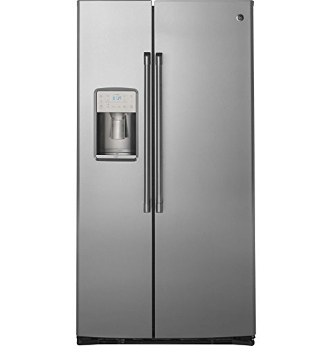 GE CZS22MSKSS Cafe 22.1 Cu. Ft. Stainless Steel Counter Depth Side-By-Side Refrigerator