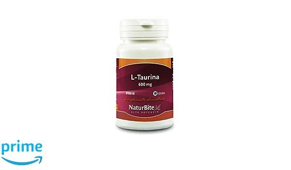 NaturBite L-Taurina, 600 mg - 60 Cápsulas: Amazon.es: Salud ...