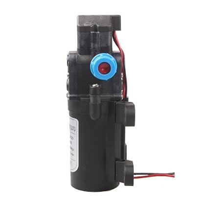 Vktech/® DC 12V 60W Alta Presi/ón Micro Bomba de Diafragma autom/ático Interruptor 5L//min Negro