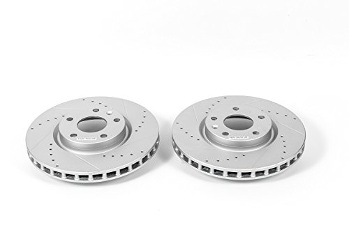 2017 Chevrolet Corvette Rotors - Power Stop AR82163XPR Front Evolution Drilled & Slotted Rotor Pair