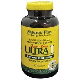 NaturesPlus Ultra I Multivitamin Iron Free, Sustained Release - 90 Vegetarian Tablets - Maximum Absorption High Potency Daily Multivitamin Supplement - Natural Energy - 90 Servings