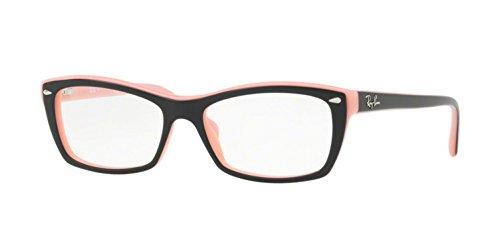 Ray-Ban Women's RX5255 Eyeglasses Top Black On Pink - Ray P Ban Glasses