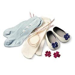 American Girl Felicity's Shoes, Socks & Garters (Socks Woven Kids)