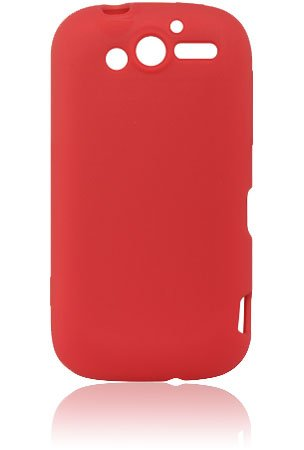 HTC T-Mobile myTouch HD Silicone Skin Case - Red