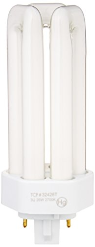 Flourescent Light Three (TCP Fluorescent Triple Tube PL Lamp - 26 Watt (1700 Lumens) Soft (2700K) 4-Pin (GX24q-3 base))