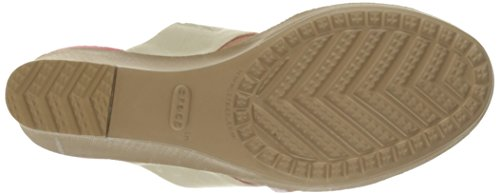 Crocs Femmes Leigh Ii 2 Sangle Graphique Sandale Stuc / Or