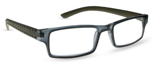 - Cinzia Optical Mulligan Reading Glasses - Slate/Avocado - Strength +1.0