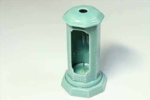 Yamako A surprise price is realized Fresno Mall Buddhist Candlestick Miniature Ceramic Shrine Celadon
