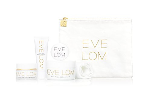 (Eve Lom Radiant Ritual Set (1.7 Cleanser, Muslin Cloth, Kiss Mix, .34 Bright Cream, .5 Rescue Mask), 2.0 Ounce)