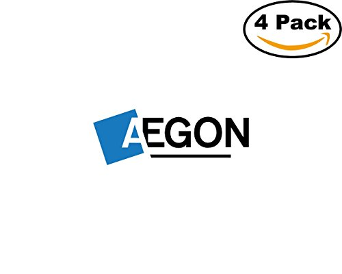 Aegon 4 Stickers 4X4 Inches Car Bumper Window Sticker Decal