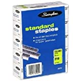 Swingline Staples, Standard, 1/4 Inch Length, 5000/Box, 10 Boxes