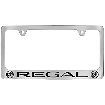 Buick Black Fill Chrome//Black Logo on Mirrored Stainless Steel License Plate