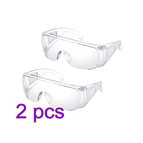 Milisten 4pcs Protective Safety Glasses Medical Goggles Eye Protection Glasses Anti Splash Spectacles Eyewear Safety Face Shield For Women Men