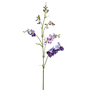 """38.5"""" Sweet Pea Silk Flower Stem -Purple/Violet (Pack of 12) 101"""