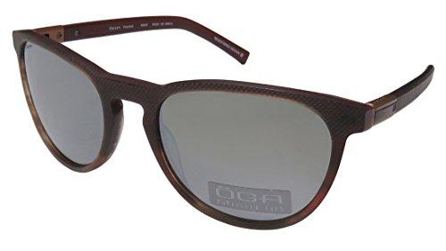 Oga By Morel 8262o For Ladies/Women Designer Full-Rim Shape Polarized Lenses Flexible Hinges Sunglasses/Shades (55-20-135, Matte Burgundy/Sienna)