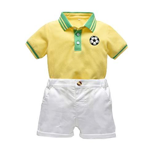 Shusuen_baby Boys Gentleman Outfits Suits Infant Short Sleeve Shirt+Shorts Pants Overalls Clothes Set (Harry Potter Platform 9 3 4 Shirt)