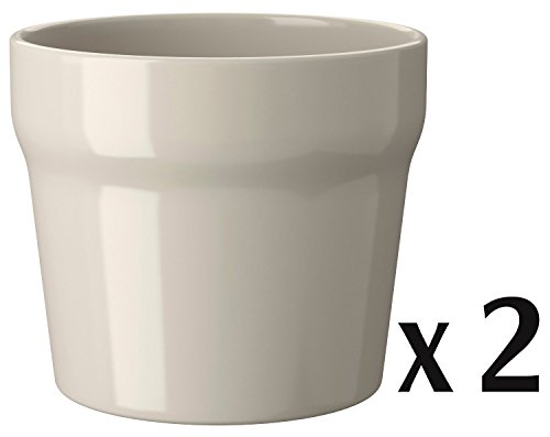 IKEA ceramic plant pot, beige, pack of 2