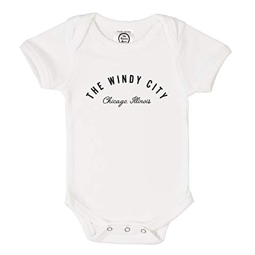 The Spunky Stork The Windy City Chicago Organic Cotton Baby Toddler Shirt (12-8M) (Windy City Distributors)