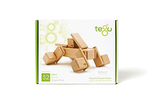52 Piece Tegu Original Magnetic Wooden Block Set, Natural by Tegu (Image #10)