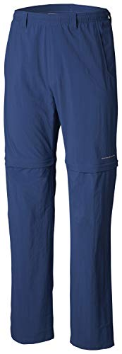 Columbia Mens Backcast Convertible Pant, Carbon, Mediumx34