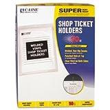 (3 Pack Value Bundle) CLI80912 Vinyl Shop Ticket Holder, Both Sides Clear, 9 x 12, 50/BX