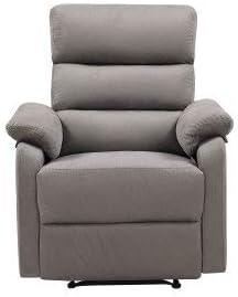 GetNature Relax Lounge Standard Manual Recliner Chair Grey Fabric Living Room Chair Set