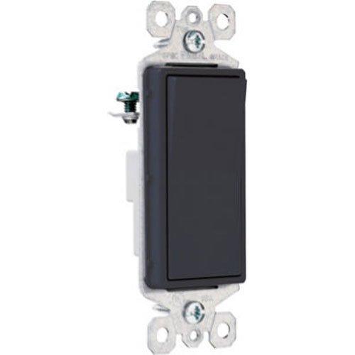 Legrand - Pass & Seymour TM870BKCC10 Decorator Switch, Single Pole, 15-Amp 120/277-Volt with Ground, (Black Rocker Switch)