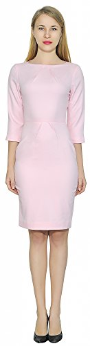 Marycrafts Womens Classy Wear To Work Dress Office Business Dresses 4 Pink Classy Office