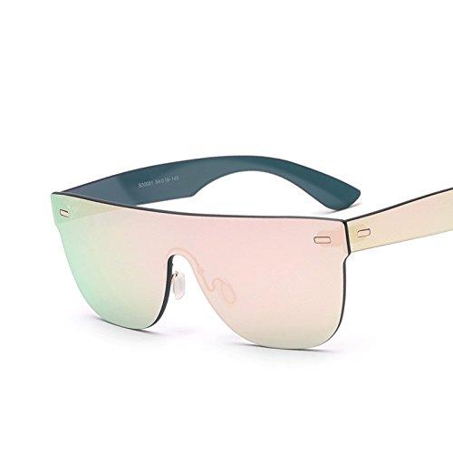 Gafas Un Sol Reborde Mujer De Espejo Rosa Gafas D Azul De TIANLIANG04 Sol 8wpOPHqUU