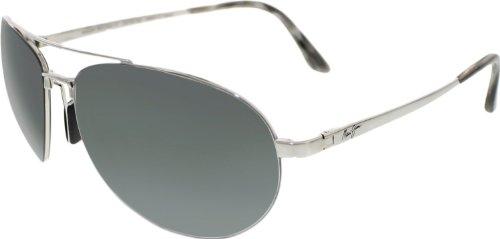 Maui Jim Pilot 210-17 | Sunglasses, Silver Aviator, with Patented PolarizedPlus2 Lens Technology