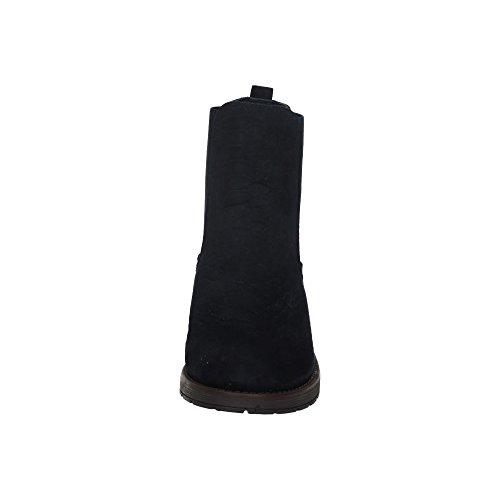 XTI Botin SRA. Antelina Navy, Damen Geschlossene Schuhe mit Absatz, Blau - Marineblau - Größe: 39