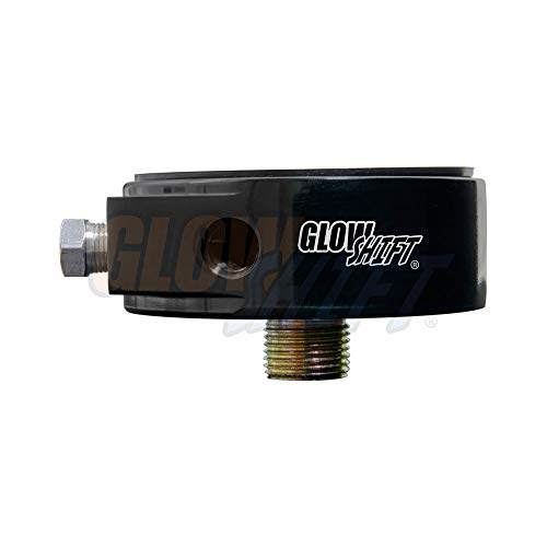 GlowShift Oil Filter Sandwich Plate Thread Adapter - 3/4-16 Thread - Install up to (4) 1/8-27 NPT Oil Pressure & Temperature Sensors - Includes O-Ring & Port Plugs ()