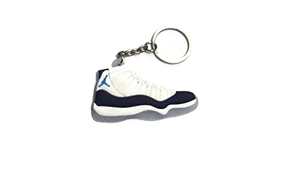 Jordan XII 12 White//Baby Blue Sneakers Shoes Keychain Keyring AJ 23 Retro Air Generation 12 XII