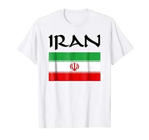 Iran Flag-Jersey-Soccer-Travel-Football T Shirt