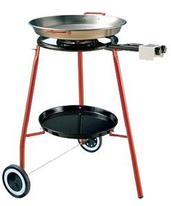 (Garcima Cooking Kit on Wheels with 18-inch Carbon Steel Paella Pan)