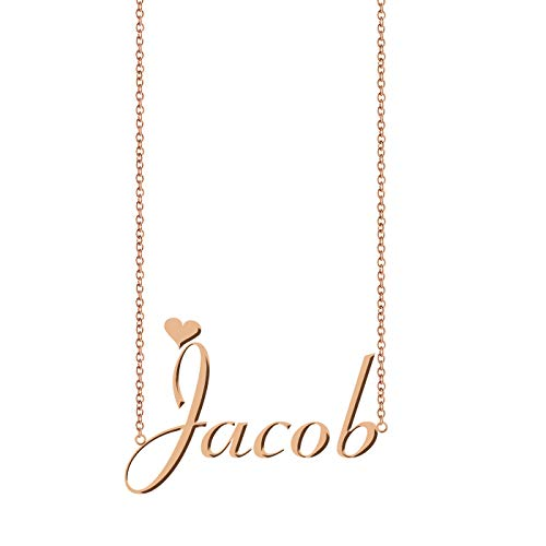 ZAloha Personalized Custom Name Necklace Jacob (10 Year Anniversary Letter To My Wife)