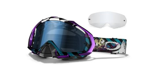 Oakley Troy Lee Signature Sries Mayhem MX Goggles with Blue Lens (Troy Lee Design) (Signature Goggles Snow)