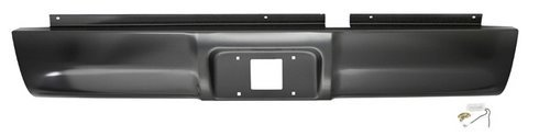 Rear Steel Roll Pan - IPCW CWRS-94DG Dodge Pickup/RAM Steel Roll Pan with License Plate Hole and Light