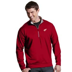 NHL Detroit Red Wings Men's Leader Pullover, Dark Red/Silver, (Antigua Detroit Red Wings Jacket)