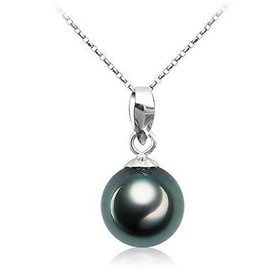 Collier femme perle noire